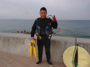 砂辺ビーチ OWD海洋実習