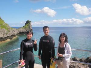 2013.08.24 真栄田岬 青の洞窟 体験ダイビング
