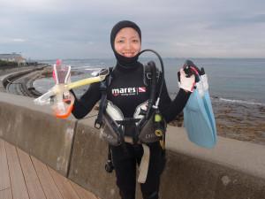 2013.11.14 砂辺ビーチ AOWコース
