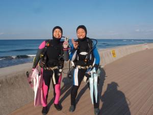 2014.01.11 砂辺ビーチ ファンダイビング