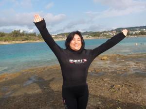 2014.02.14 奥武島ビーチ ファンダイビング
