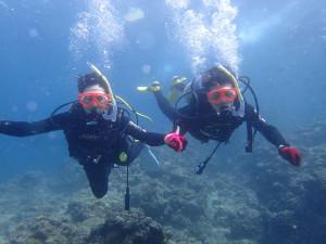2014.06.27 真栄田岬ビーチ青の洞窟 体験ダイビング