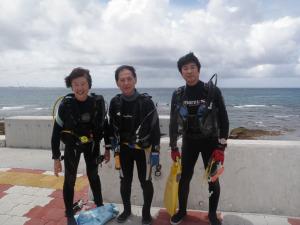 2014.09.07 砂辺ビーチ AOW講習&ファンダイビング