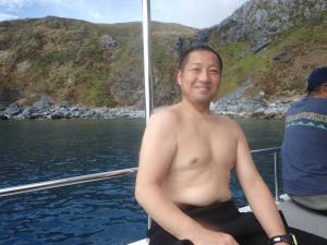 2014.10.26 渡名喜島遠征 ボートファンダイビング