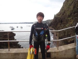 2014.11.17 真栄田岬ビーチ AOWコース