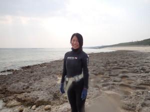 2014.12.30 大度浜海岸 スキンダイビング