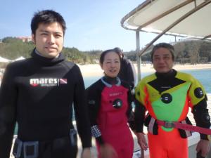 2014.12.31 大浦湾ボート ファンダイビング