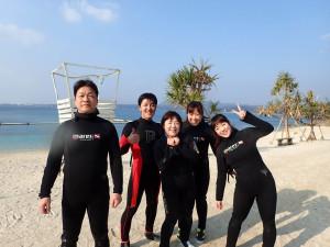 2015.01.10 大浦湾ボート 体験ダイビング