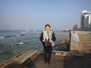 2015.02.14 砂辺ビーチ ファンダイビング
