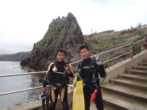 2015.04.05 真栄田岬ビーチ ファンダイビング