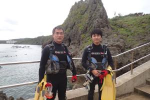 2015.07.03 真栄田岬ビーチ ファンダイビング