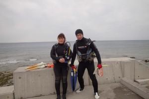 2016.02.27 砂辺ビーチ パディ・スクーバー・ダイバー・コース&付き添いファン