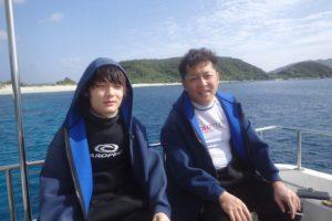 2016.11.29 慶良間ボート 体験ダイビング&付き添いファン