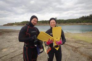 2017.12.26 奥武島ビーチ 体験ダイビングコース