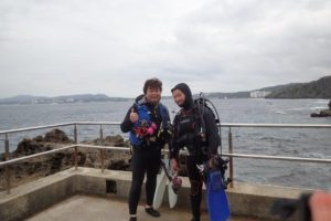 2018.01.04 真栄田岬ビーチ ファンダイビング