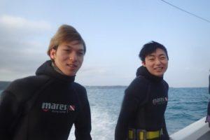 2018.02.20 真栄田岬・青の洞窟ボート 体験ダイビング