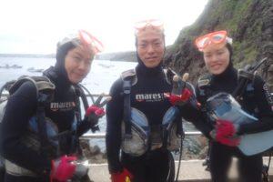 2018.04.06 真栄田岬ビーチ・青の洞窟 体験ダイビング&付き添いファンダイビング