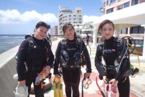 2018.07.09 砂辺ビーチ OWDコース&ファンダイビング