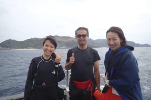 2018.10.14 渡名喜遠征 ボートファンダイビング