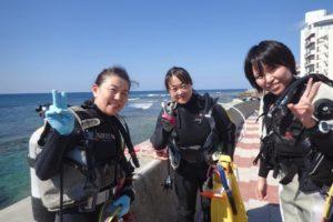 2018.11.18 砂辺ビーチ ファンダイビング