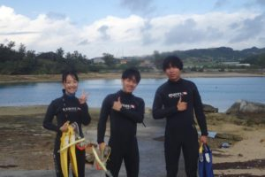 2019.12.22 奥武島ビーチ 体験&付き添いダイビング
