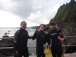 2020.08.14 真栄田岬ビーチ 体験&付き添いダイビング