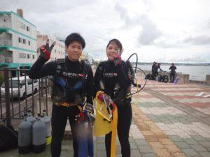 2020.09.20  砂辺ビーチ OWDコース&ファンダイビング