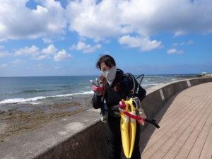 2020.10.18 砂辺ビーチ ファンダイビング